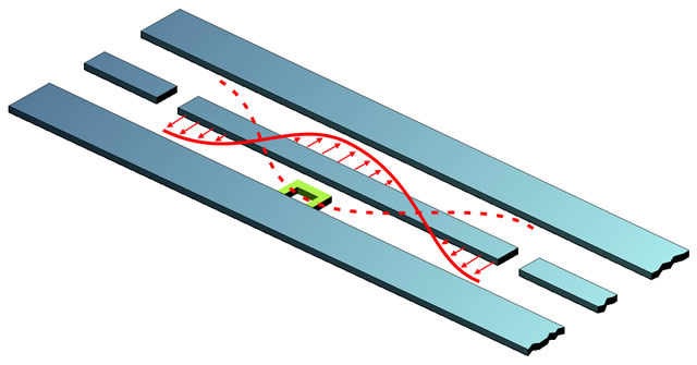 Illustration of coupled spin qubits