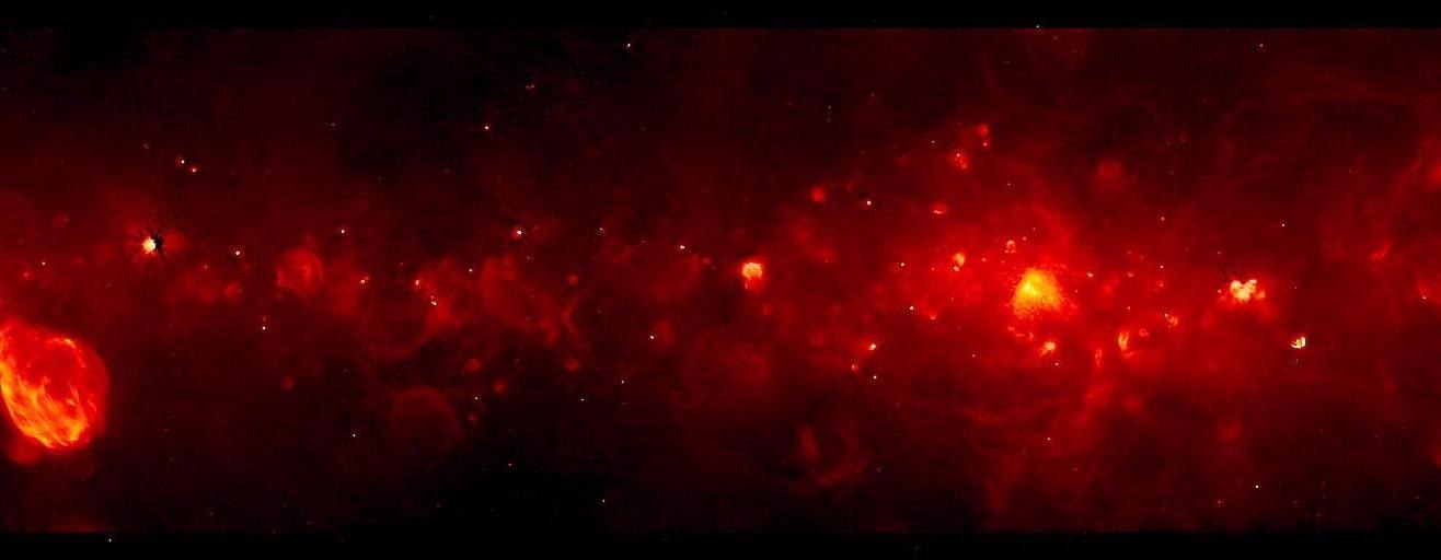 Study Detects Previously Unseen Tracers of Massive Star Formation in the Milky Way