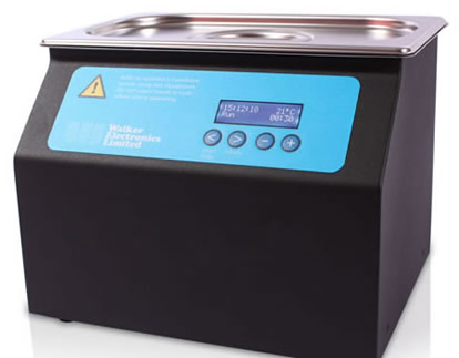 Q105 Black Ultrasonic Cleaning Bath from Walker Electronics