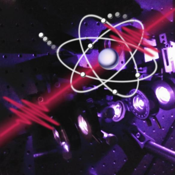Laser pulses generate and track electronic quantum interference in an atom.
