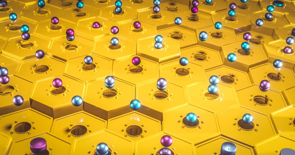 Quantum Computing concept Qubits and their quantum superposition state future of computers concept 3d rendering