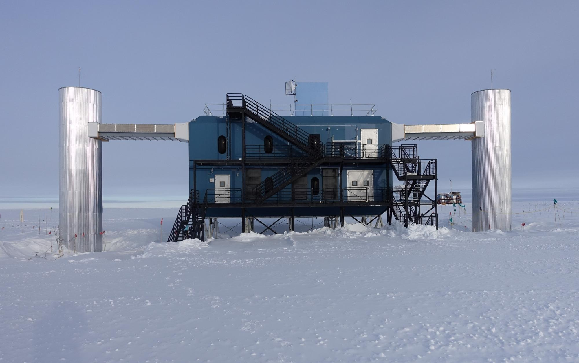 The IceCube Laboratory at the South Pole. This building holds the computer servers that collect data from IceCube's sensors under the ice.