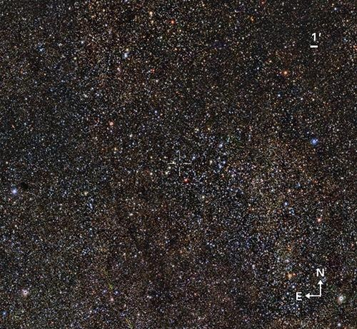 Study Discovers Enormous, Intermediate-Age Star Cluster in the Scutum Constellation