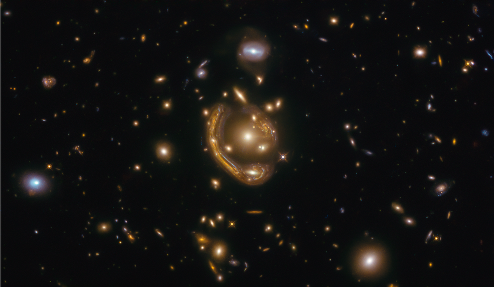 Hubble Image Reveals Einstein Ring Formation in Newly Discovered Galaxy