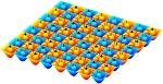 New Lattice Model Realizes Fractional Quantum Hall Effect Behaviour