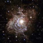 Light Reverberates Through Murky Environment Around Pulsating Variable Star