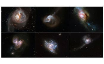 Hubble Releases Collage of Six Splendid Galaxy Mergers